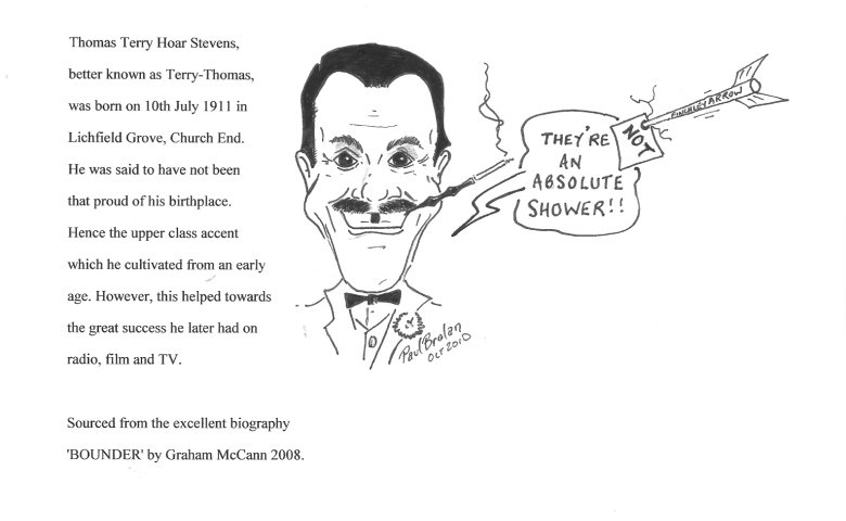 Cartoon of Terry Thomas