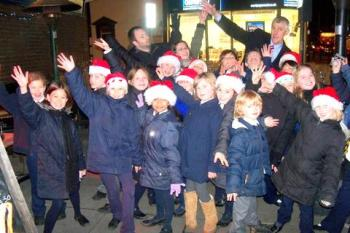Carol singing at St Mary's School
