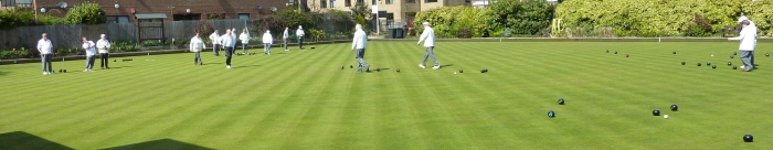 Club bowling on a summers day