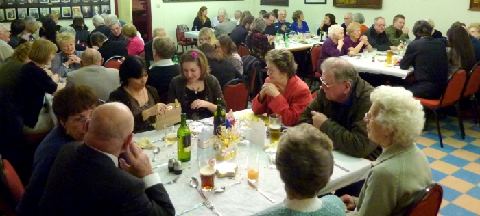 Dinner party at the Finchley Bowling Club