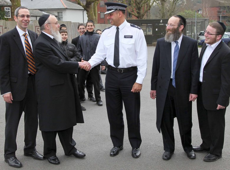 Photo of Police Chief at Pardes Grammar School, Hendon Lane
