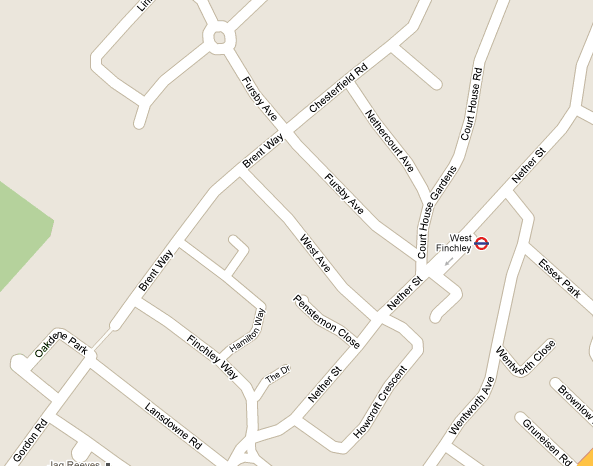 Map for Dollis Brook