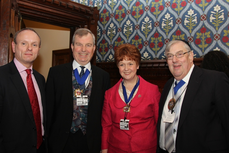 (left to right – Mike Freer MP, Mayor of Richmond, Mayoress of Richmond, Mayor of Barnet)