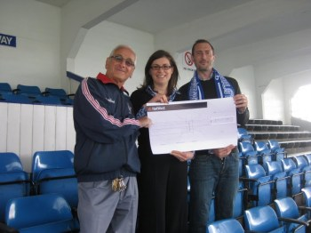W&F FC presenting cheque for charity